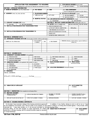 Fillable Online cnic navy DD Form 1746, Application for Assignment ...