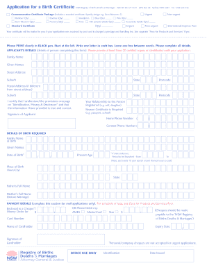 Submit births deaths and marriages nsw search Form Templates Online