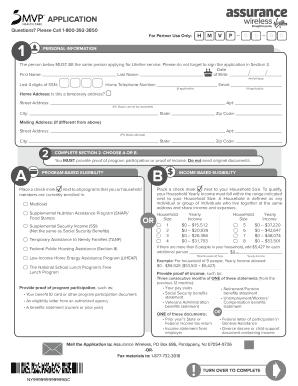 Assurance Wireless Household Worksheet Fill Online Printable