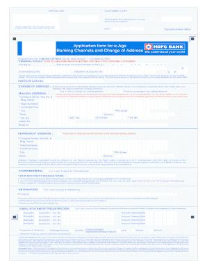 hdfc bank address change documents