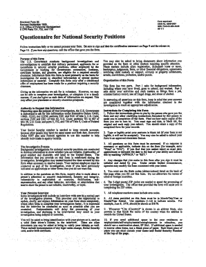Questionnaire for National Security Positions - U.S. Marshals Service - usmarshals