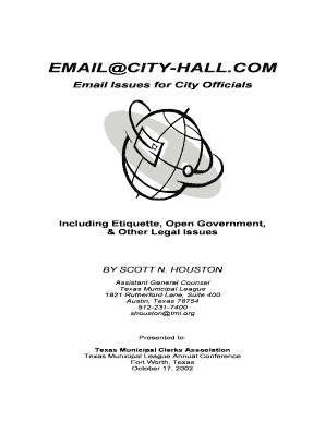 EMAILCITY-HALLCOM - Texas Municipal League