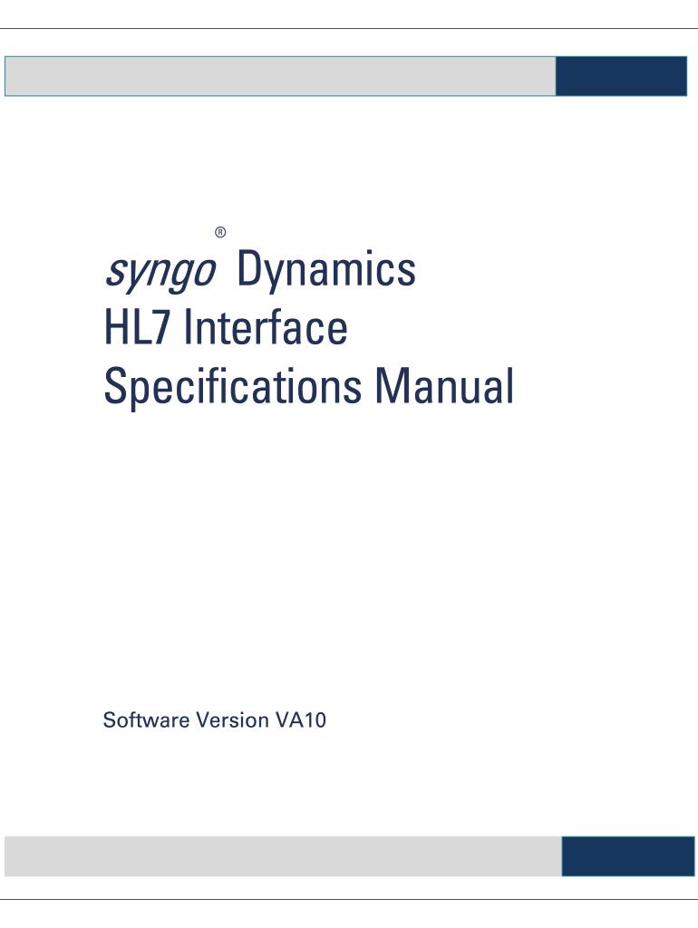 Siemens Openlink Manual - Fill Online, Printable, Fillable, Blank