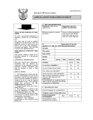 Example Of Filled Z83 Form Pdf - Fill Online, Printable, Fillable ...