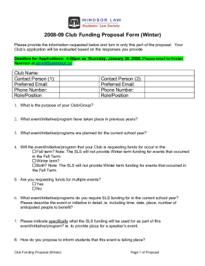 B2008b-09 Club Funding Request for Proposals Winter
