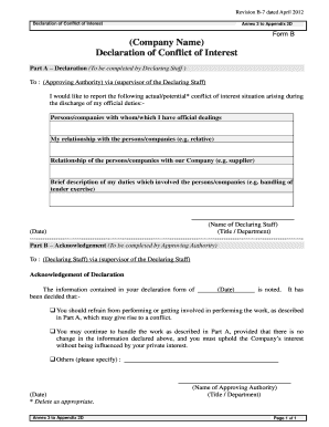 conflict of interest declaration template - massachusetts irs 355 pv form fill online printable