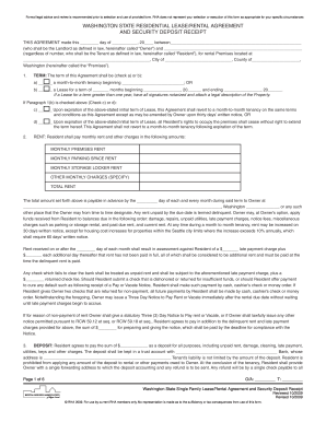 lease security deposit form