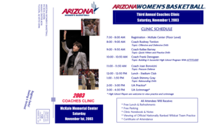 2003 COACHES CLINIC FLYER (in PDF Format) - University of