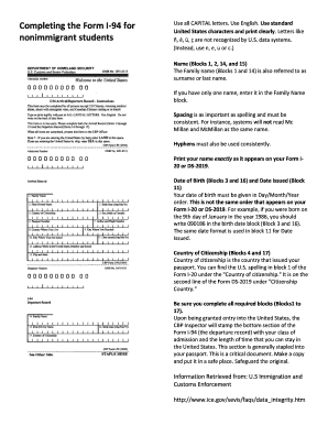 i 94 form pdf print  16 Printable i 16 not found Forms and Templates - Fillable ...