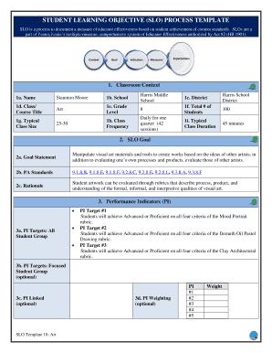 department schedule template