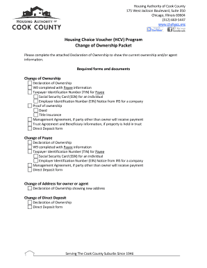 Change of Ownership Form and Check List - Housing Authority of ... - thehacc