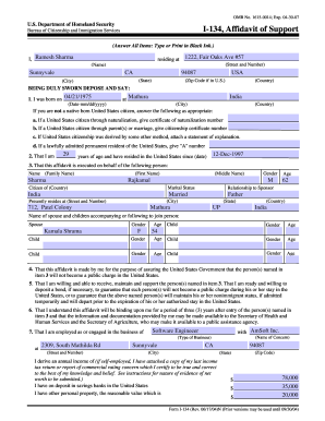 Form I-134 Templates - Fillable & Printable Samples for PDF, Word ...