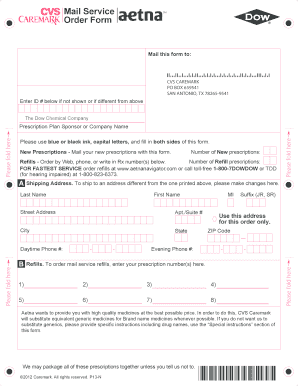 Cvs Mail Order Form - Fill Online, Printable, Fillable, Blank ...