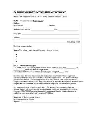 Fashion Apprentice Form Fill Online Printable Fillable Blank Pdffiller Pdffiller