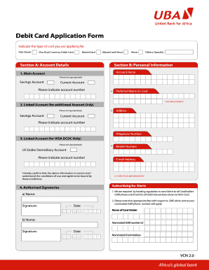 Hsbc application form for debit card fill online printable uba bank pictures form thecheapjerseys Images
