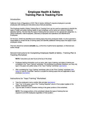 employee training plan Forms and Templates - Fillable & Printable ...
