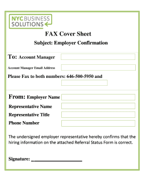 free fax cover sheet online