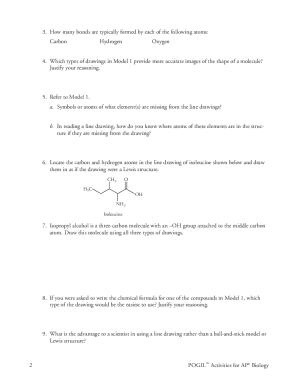 Biochemistry Basics Pogil Fill Online Printable Fillable Blank