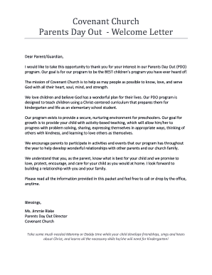 Get summer camp letter to parents template Samples to Fill