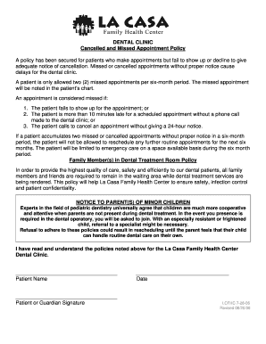 Editable missed appointment notice - Fill, Print ...