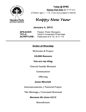 Happy New Year - Stanley Park Baptist