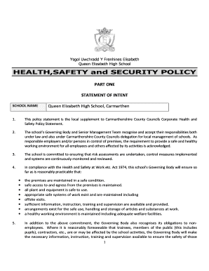 Fillable online qehs carms sch healthsafety and security policy rate this form maxwellsz