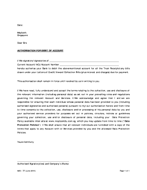 Authorize Letter For Bank from www.pdffiller.com
