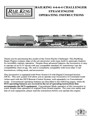 Railking 4-6-6-4 challenger steam engine operating instructions