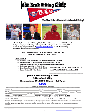John Kruk Hitting Clinic Baseball City November 23, 2008 12pm ...