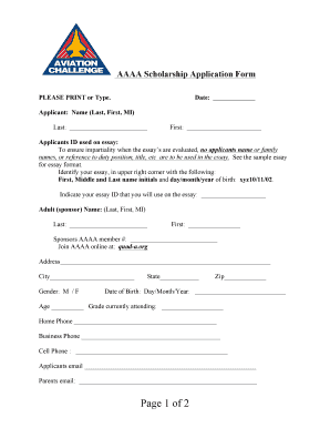 BAAAAb Scholarship Application Form - btvcb-baaaabbcomb
