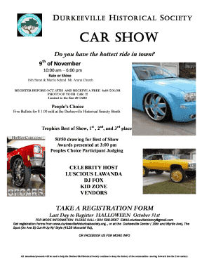 Fillable Online CARSHOWJAXCOM For ALL Jacksonville Florida Car - Car show jacksonville fl