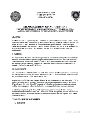 Memorandum of agreement - II Marine Expeditionary Force