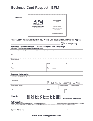 Fillable online sc business card request form bpm corporation fax rate this form colourmoves
