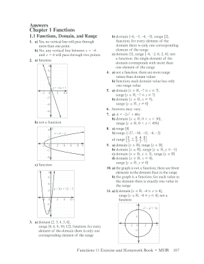 Fillable Online MCF3M Functions: FINAL EXAM REVIEW ANSWERS