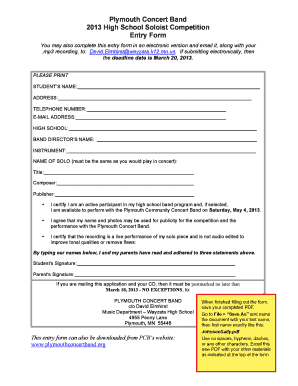 Editable music concert proposal pdf - Fill Out & Print