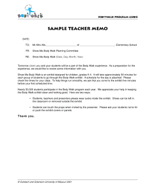 sample office memo