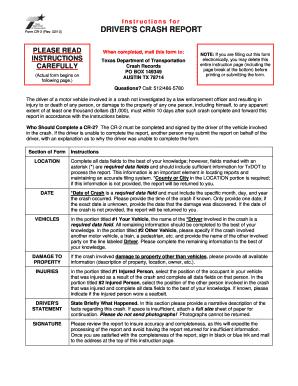 Fillable Online madisonvillepd Instructions for Form CR-2 Rev 0210 ...