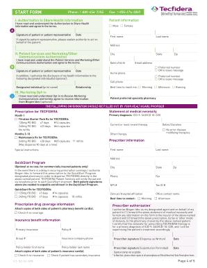 Fillable Online Tecfidera Start Form Fax Email Print - PDFfiller
