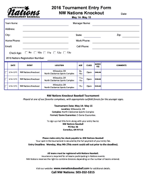 knockout tournament template excel spreadsheet - Fill Out Online