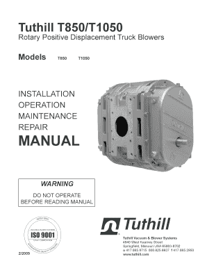 Fillable Online Tuthill T850/T1050 - Tank Trailer Parts