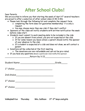 Parent Letters From Teachers Template from www.pdffiller.com