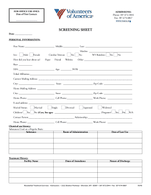Veterinary Hospitalization Sheet Fillable Printable Resume