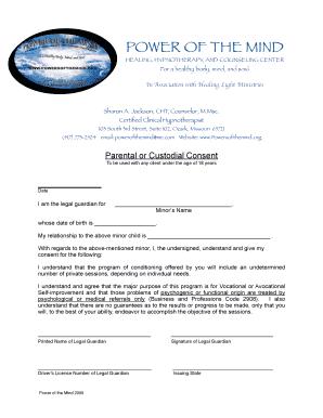 drivers permit parent consent form