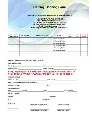 Training Company Profile Template Doc Booking Form Bageb Technologies
