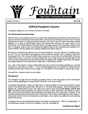Fillable Online capehaze May 2006.pub - Cape Haze Property ...