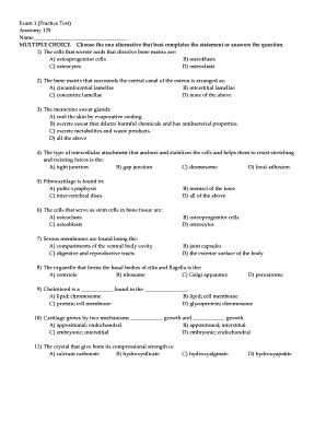 Printable anatomy multiple choice questions and answers