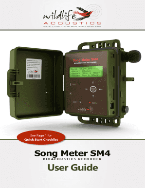 Song Meter SM4 - Wildlife amp Countryside Services - wildlifeservices co