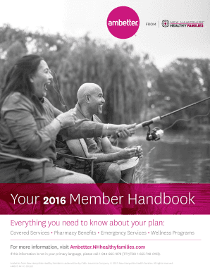 Fillable Online Member Handbook 2016 New Hampshire Ffm Services