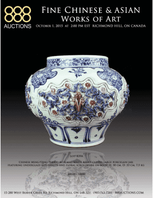 October 1, 2015 Fine Chinese & Asian Works of Art - 888 Auctions