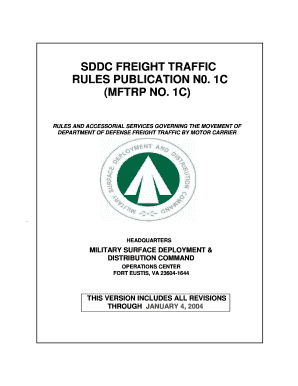 Sddc freight traffic rules publication n0. 1c (mftrp no. 1c) - Springer ...